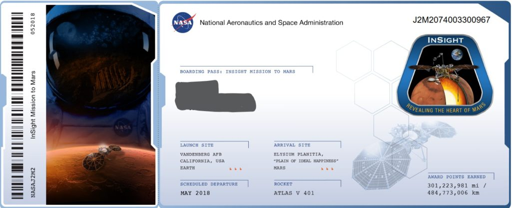 Got My Boarding Pass To Mars and I'm Thanks Giving